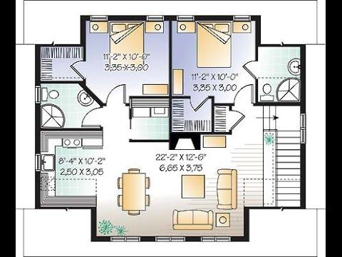 planos de casas pequeñas con medidas - YouTube