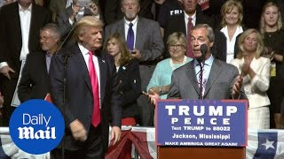 Donald Trump shares stage with Brexit leader Nigel Farage - Daily Mail