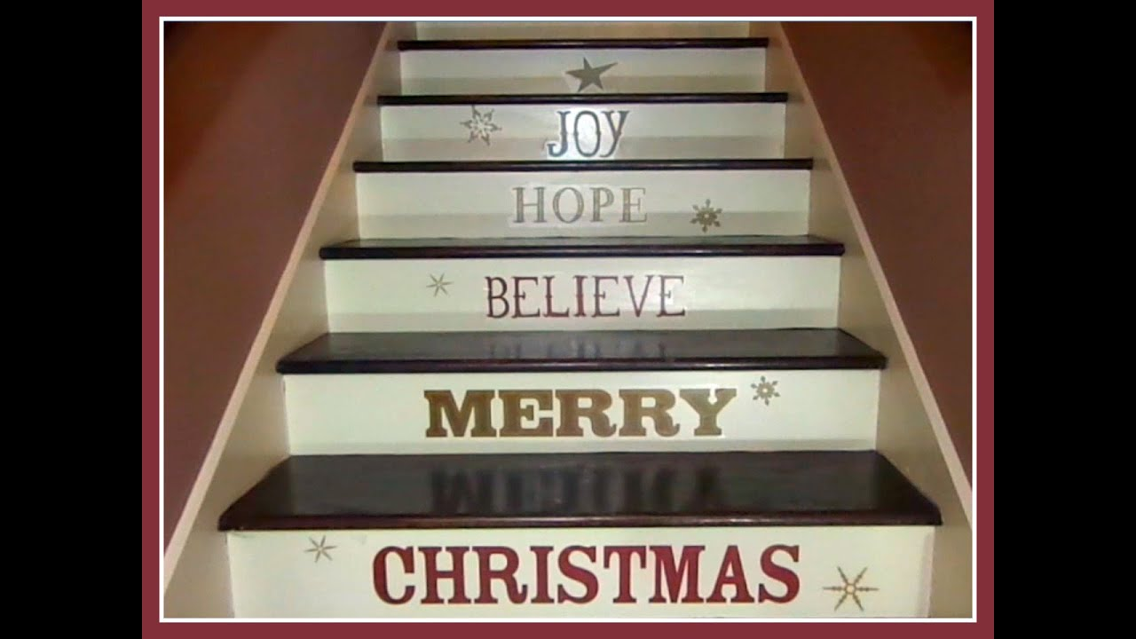 Christmas Home Decor Wall Decals On Staircase Make Impact