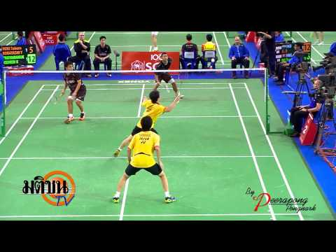 แบตมินตัน SCG world junior championships ชายคู่ LOGO มติชน TV 25 10 56