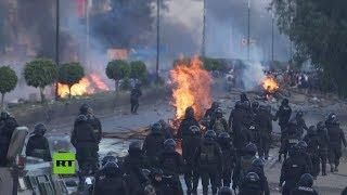 Bolivia: Fuertes enfrentamientos entre manifestantes y la Policía