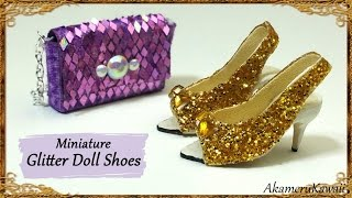Glittery Doll Shoes - Polymer Clay/Fabric Tutorial