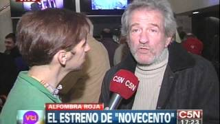 "C5N - VIVA LA TARDE: EL ESTRENO DE ""NOVECENTO"""