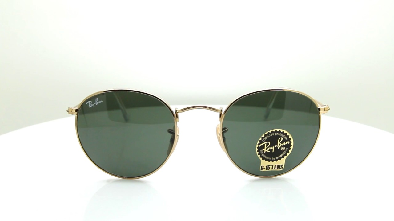 Ray Ban Round Metal RB3447 001 50 gold / green WXlMFXm