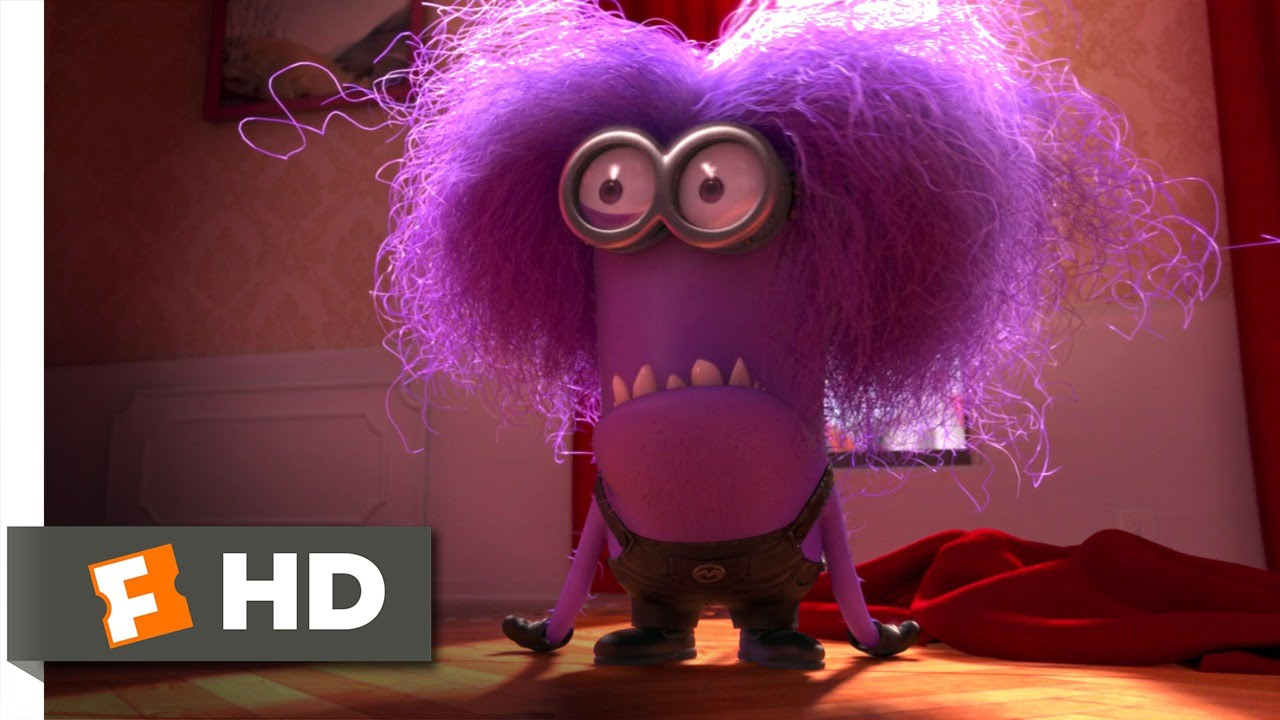 Lovely Despicable Me 2 (9/10) Movie CLIP   The Purple Minion Attacks (2013) HD    YouTube