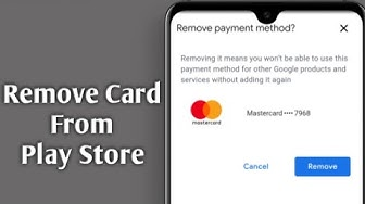 Remove Payment Method Credit Card / Debit Card From Google Play Store