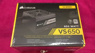 corsair VS650 PSU Unboxing and Review