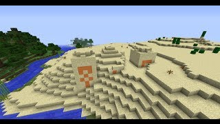 EXTREME LOOT desert Temple at spawn | Minecraft 1.7.4 seed scase