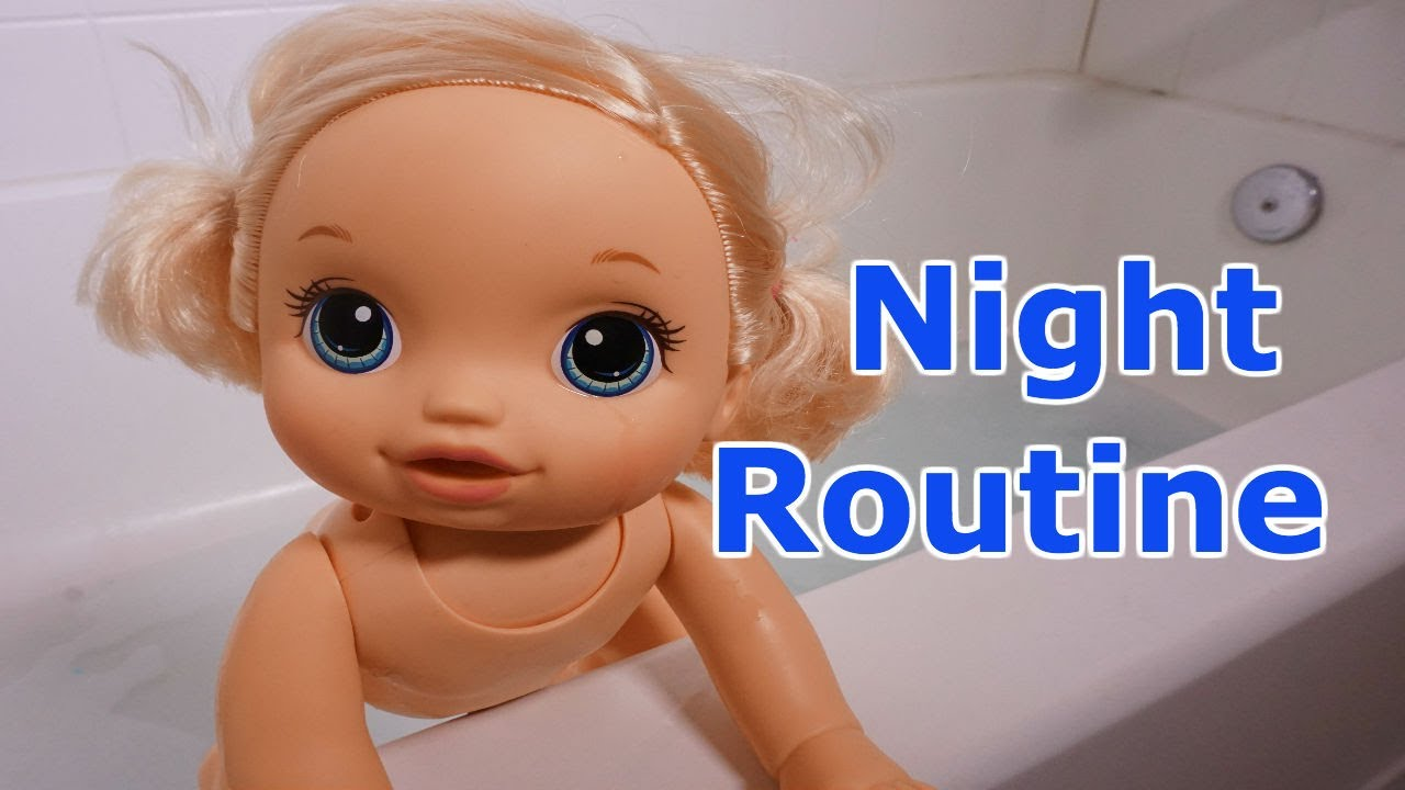 736ea5920ada BABY ALIVE Layla's Night Routine, Play Time, Dinner, Bath time & Jammies!