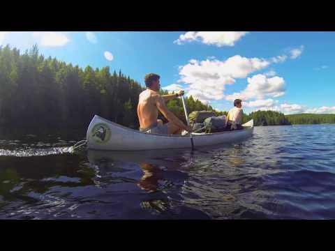 8 days canoeing in Sweden Glaskogen Gopro
