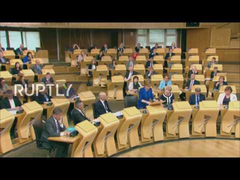 UK: Sturgeon to put referendum plan on hold until 'clarity has emerged'