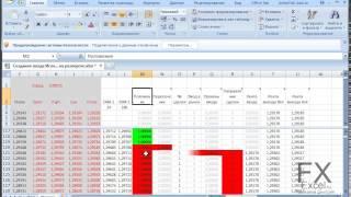 Калькулятор торговых стратегий Forex в Excel 03 Создание входа   Исход на развороте