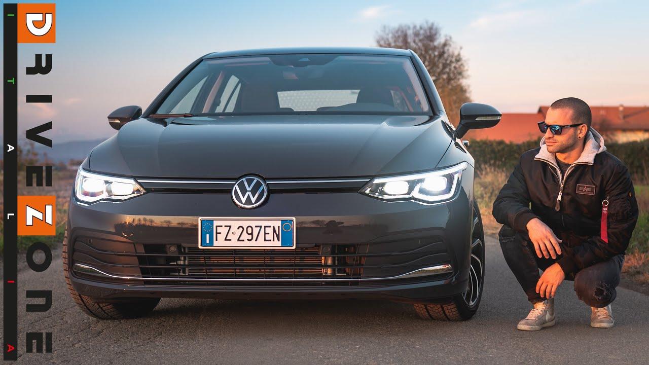 VW Golf 8   Motore BENZINA, CONSUMI da DIESEL [ Prova su strada ]