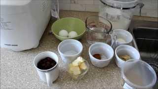 Cinnamon Raisin Bread In A Bread Maker - Peter's Kitchen Corner - Episode 4