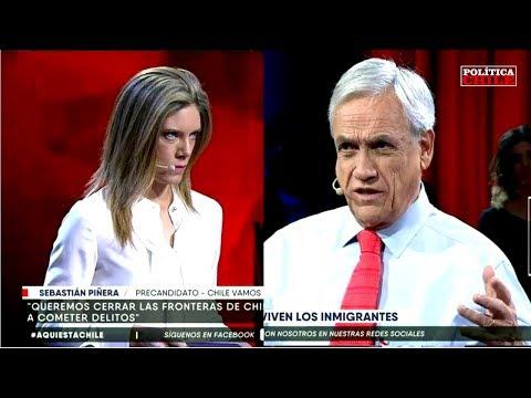 Sebastián Piñera vs Mónica Rincón - Inmigración