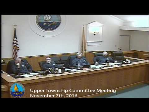 Upper Township Committee Meeting 11/7/16