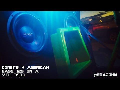 LOW END BASS BUILD!! Corey's 4 American Bass 12s On An American Bass VFL 750.1!