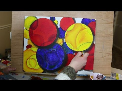 Abstract Painting Technique - Intro to Primary Colors and Basic Blending
