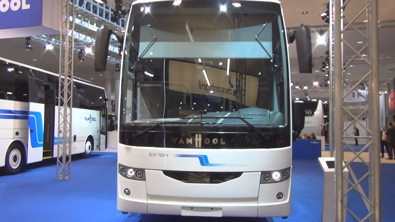 van hool ex16h bus exterior and interior [ 1280 x 720 Pixel ]