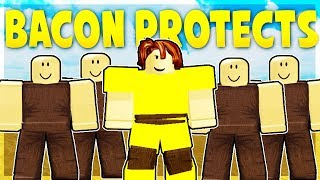 BACON HAIR PROTECTS NOOBS IN BOOGA BOOGA - France Roblox