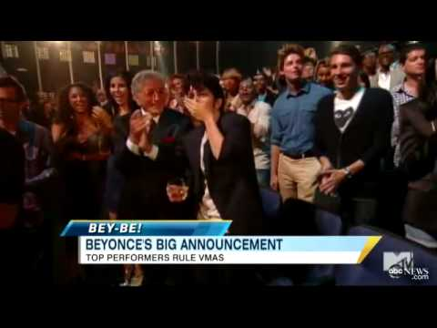 Download Youtube: Beyonce's Pregnant: 'Single Ladies' Superstar Announces on VMA Stage as Jay-Z Looks On