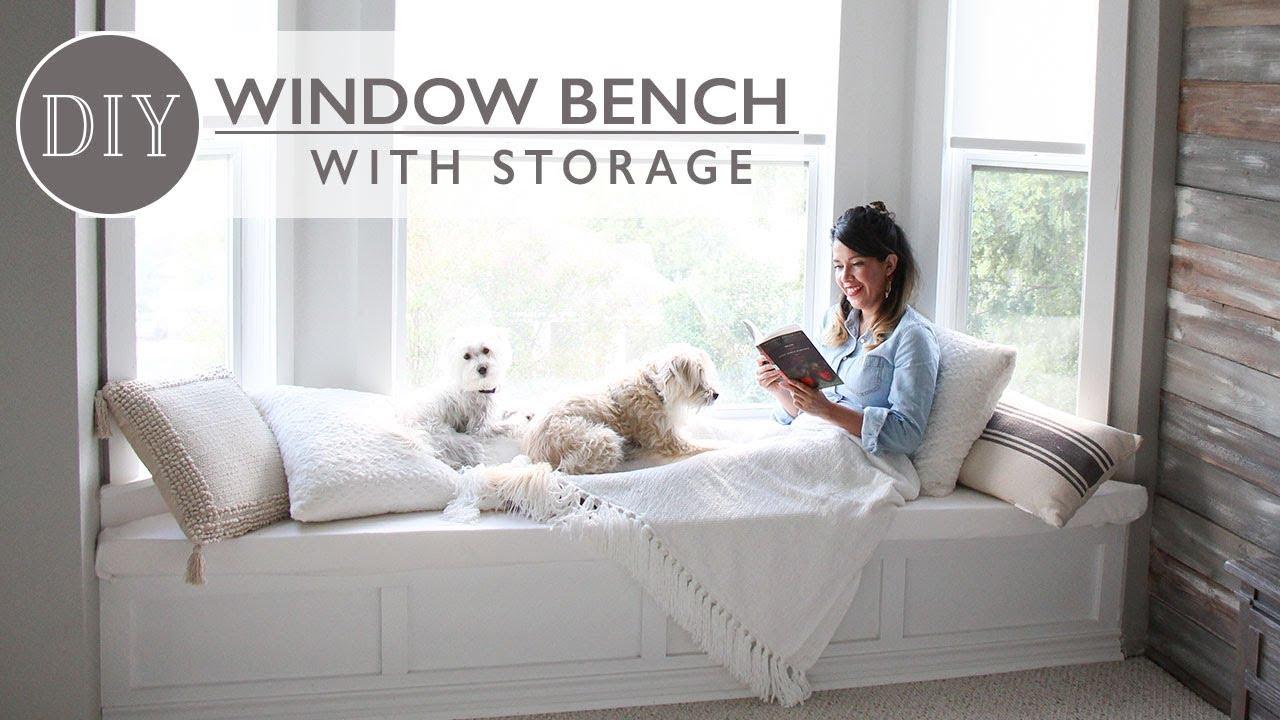 DIY Window Bench With Storage   Ft. LampsPlus