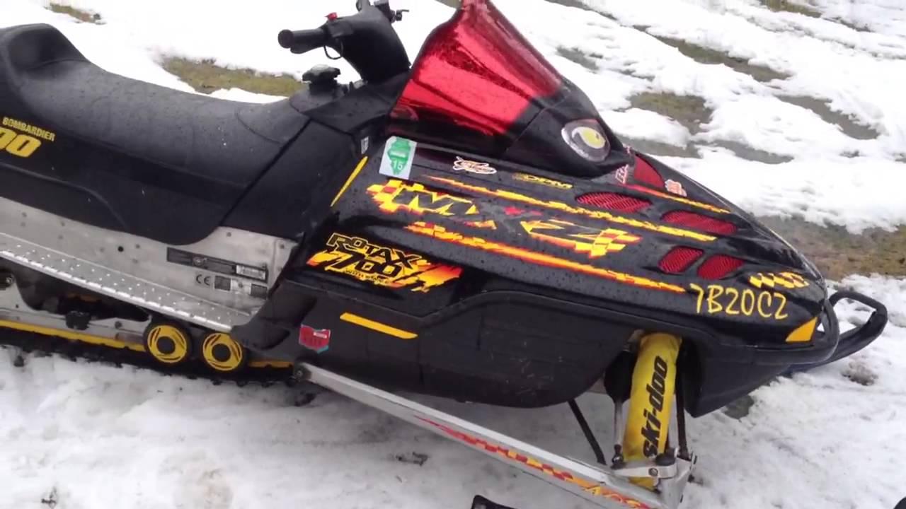 2000 ski doo 700 MXZ  YouTube