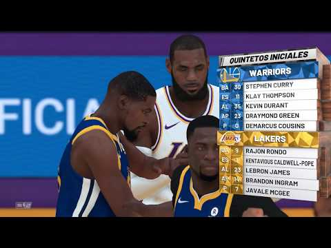 NBA 2K19  warriors vs. Lakers Gameplay (FULL QUARTER OF XBOX ONE X IN 8d74fb210