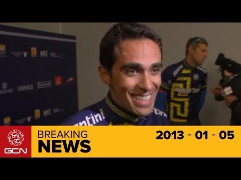 Dubai Cycle Race launch with Alberto Contador, Ryder Hesjedal, Tony Martin and Vincenzo Nibali