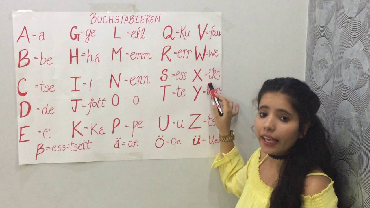 how to pronounce alphabets in german  buchstabieren  with