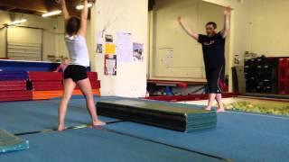 Floor drills: Cartwheel, beginner