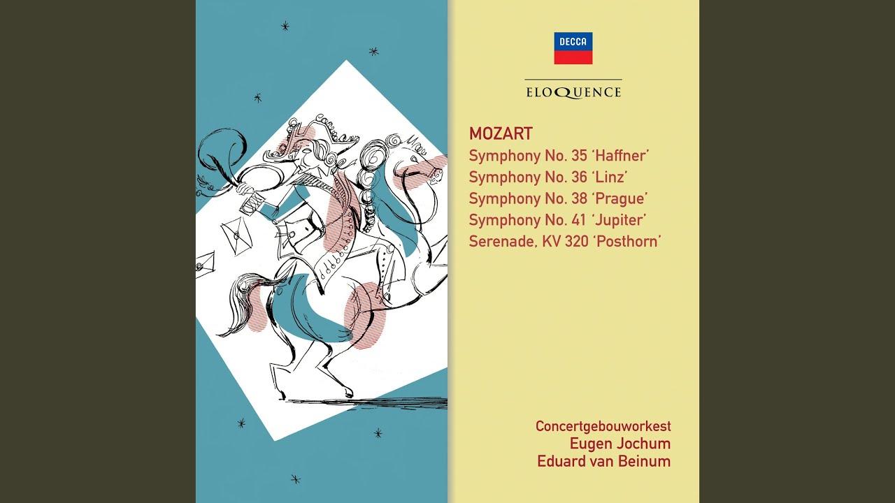 Mozart: Symphony No 41 in C, K 551 -