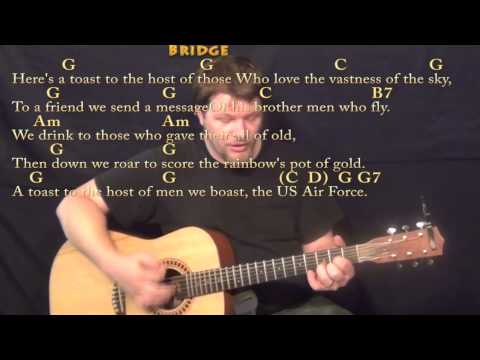 U.S. Air Force Song - Strum Guitar Cover Lesson in C with Chords/Lyrics