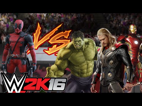 Deadpool vs Los Vengadores !! Combate de Superheroes ! OMG - WWE2K16 - ElChurches