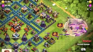 Clash of Clans my defense video (38 Hog Rider attack me )