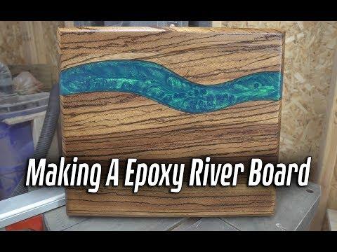 Making A Zebrawood Epoxy River Board (4k)