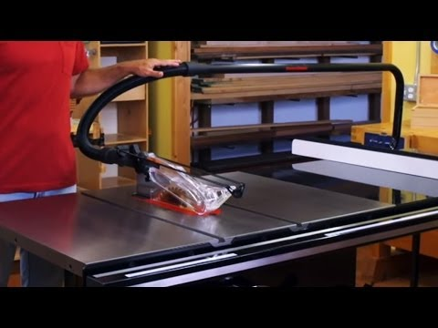 Sawstop Professional Cabinet Saw Dust Collection Youtube