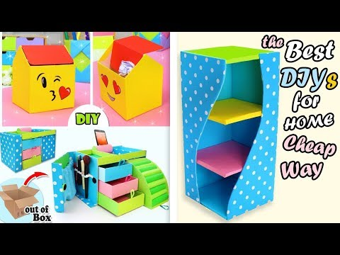 3 AWESOME DIY ORGANIZER IDEAS OUT OF CARDBOX YOU HAVE TO TRY