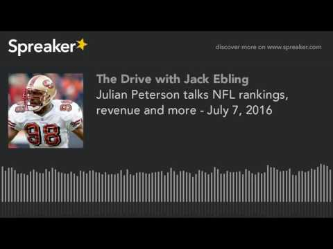 Julian Peterson talks NFL rankings, revenue and more - July 7, 2016