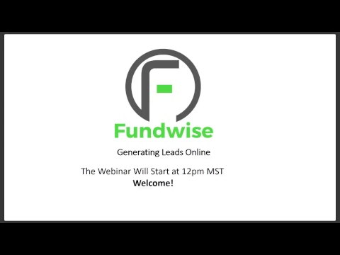 Webinar Wednesday - Generating Leads Online