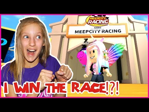 I WIN THE RACE in MeepCity!!!