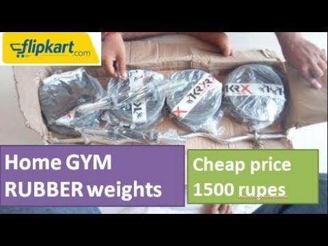 Home gym kit rubber weights unboxing flipkart kg best gym kit