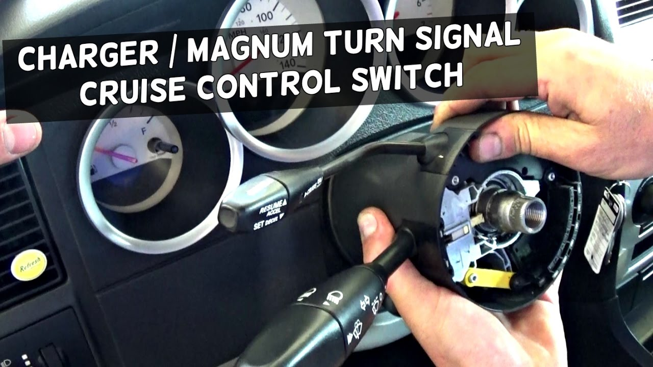 DODGE CHARGER TURN SIGNAL SWITCH REPLACEMENT REMOVAL DODGE MAGNUM  YouTube