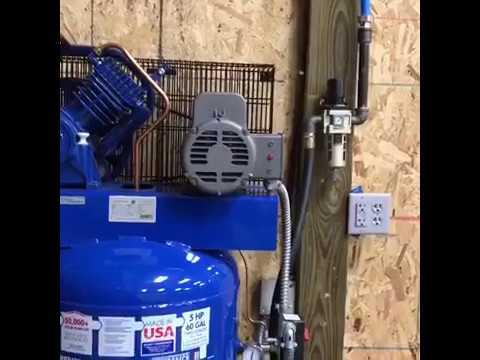 air compressor and shop air install doovi. Black Bedroom Furniture Sets. Home Design Ideas