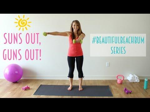 Suns Out, Guns Out ☀️�� #BeautifulBeachBum Arm Workout