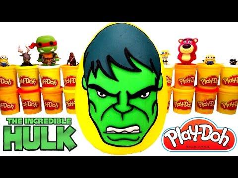 yenilmezler hulk dev sürpriz yumurta oyun hamuru avengers hulk oyuncakları iron man
