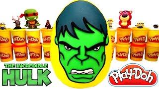 Yenilmezler Hulk Dev Sürpriz Yumurta (Oyun Hamuru) Avengers Hulk Oyuncakları, İron Man