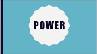 Organizational Power