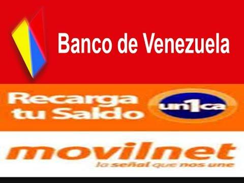 banco de venezuela como realizar recarga movilnet por