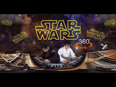 (Virtual Reality Version) 360° Star Wars Music Video Piano Cover (Rotatable)